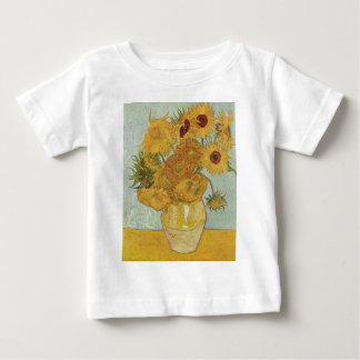 Vase with 12 sunflowers Vincent Van Gogh Baby T-Shirt