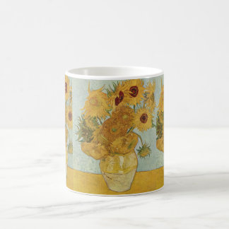 Vase with 12 sunflowers - Vincent Van Gogh Coffee Mug