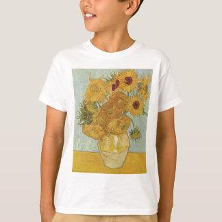 Vase with 12 sunflowers Vincent Van Gogh T-Shirt