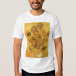 Vase with 15 Sunflowers by Van Gogh Vintage Flower T Shirts