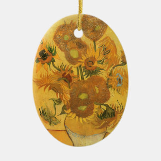 Vase with 15 Sunflowers by Vincent van Gogh Christmas Ornament