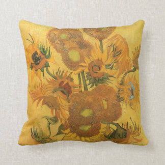 Vase with 15 Sunflowers by Vincent van Gogh Cushions