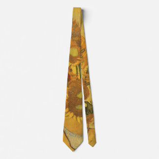 Vase with 15 Sunflowers by Vincent van Gogh Tie