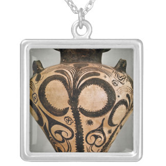 Vase with a floral decoration, from Mycenae Silver Plated Necklace