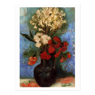 Vase with Carnations by Vincent van Gogh Postcard