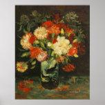 Vase with Carnations Vincent van Gogh Poster