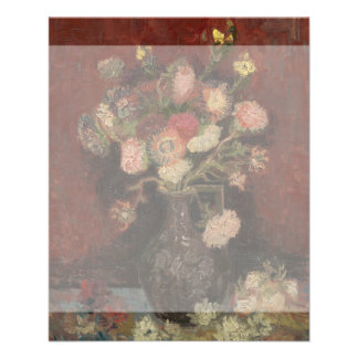 Vase with Chinese Asters and Gladioli by Van Gogh 11.5 Cm X 14 Cm Flyer