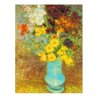 Vase with Daisies and Anemones Print Postcard