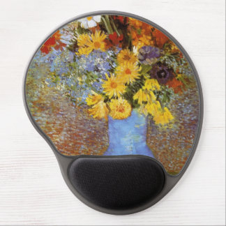 Vase with daisies and anemones - Van Gogh Gel Mouse Mat