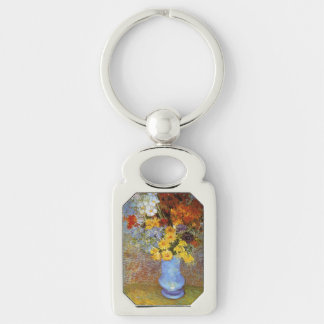 Vase with daisies and anemones - Van Gogh Silver-Colored Rectangle Key Ring