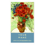Vase with Daisies and Poppies by Van Gogh Pack Of Standard Business Cards