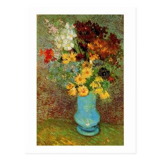 Vase with Daisies & Anemones Van Gogh Fine Art Postcard