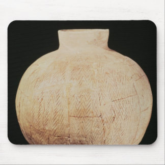 Vase with decorative carving, from Tell-Hassuna Mouse Pad