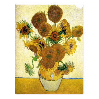 Vase With Fifteen Sunflowers By Vincent Van Gogh Postcard