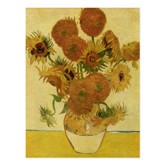 Vase with Fifteen Sunflowers, Van Gogh Fine Art Postcard