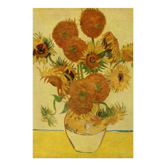 Vase with Fifteen Sunflowers, Van Gogh Fine Art Poster