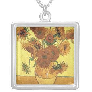 Vase with fifteen sunflowers Vincent van Gogh Custom Necklace