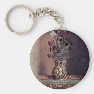 Vase With Flowers By Memling Hans Key Chains