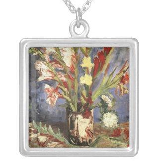 Vase with Gladioli, van Gogh Silver Plated Necklace