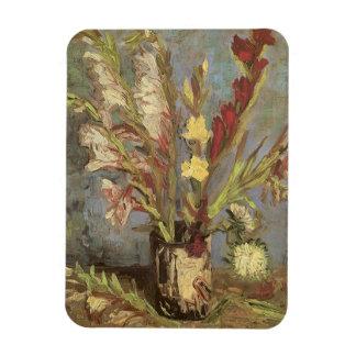 Vase with Gladioli van Gogh, Vintage Impressionism Magnet