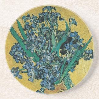 Vase with Irises by Vincent van Gogh, Vintage Art Coaster