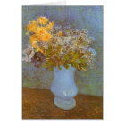 Vase with Lilacs and Daisies by Vincent van Gogh Card