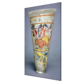 Vase with painted decoration depicting Europa and Gallery Wrap Canvas