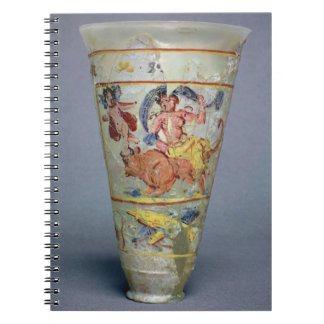 Vase with painted decoration depicting Europa and Notebook