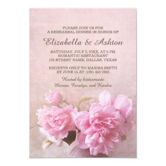 Vase with Pink Roses | Romantic Rehearsal Dinner 13 Cm X 18 Cm Invitation Card