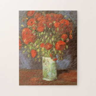 Vase with Red Poppies by Vincent van Gogh Jigsaw Puzzle