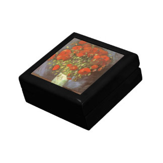 Vase with Red Poppies by Vincent van Gogh Small Square Gift Box