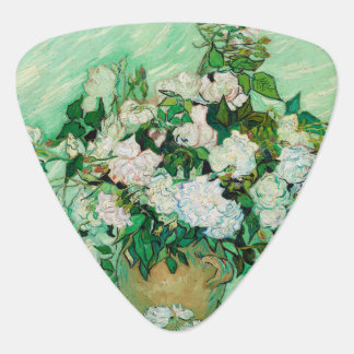 Vase with Roses by Vincent Van Gogh Guitar Pick