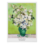 Vase with Roses Vincent Van Gogh painting