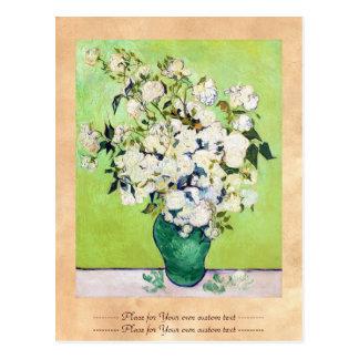 Vase with Roses Vincent Van Gogh painting Postcard