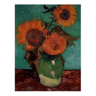 vase with three sunflowers, van Gogh Postcard