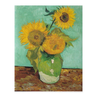 Vase with three sunflowers, Vincent van Gogh Flyer