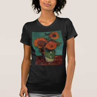 Vase with three sunflowers,Vincent van Gogh T-Shirt