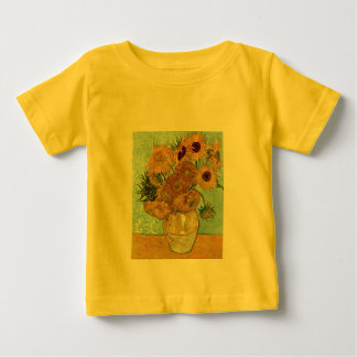 Vase with Twelve Sunflowers by Van Gogh Baby T-Shirt