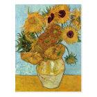 Vase with Twelve Sunflowers by Van Gogh Postcard