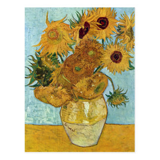 Vase with Twelve Sunflowers by Van Gogh Postcard