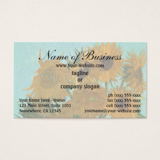 Vase with Twelve Sunflowers by Vincent van Gogh Business Card