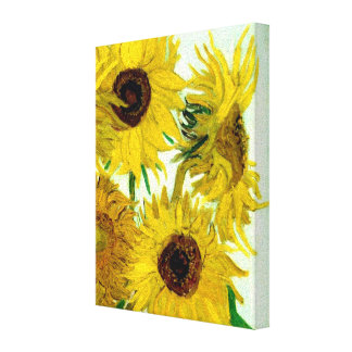 Vase with Twelve Sunflowers, Van Gogh Fine Art Canvas Print