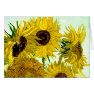 Vase with Twelve Sunflowers, Van Gogh Fine Art Card