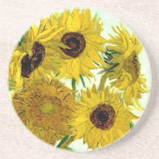 Vase with Twelve Sunflowers, Van Gogh Fine Art Coaster