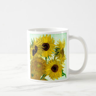 Vase with Twelve Sunflowers, Van Gogh Fine Art Coffee Mug