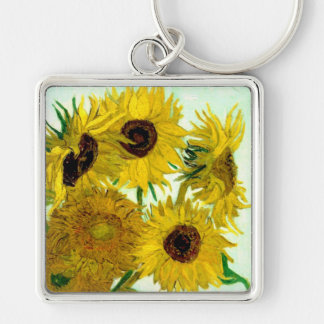 Vase with Twelve Sunflowers, Van Gogh Fine Art Key Ring