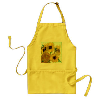 Vase with Twelve Sunflowers, Van Gogh Fine Art Standard Apron