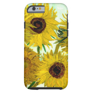 Vase with Twelve Sunflowers, Van Gogh Fine Art Tough iPhone 6 Case