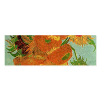 Vase with Twelve Sunflowers, Vincent van Gogh. Business Card Templates