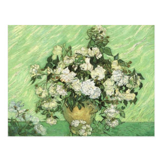 Vase with White Roses  Vincent van Gogh Postcard